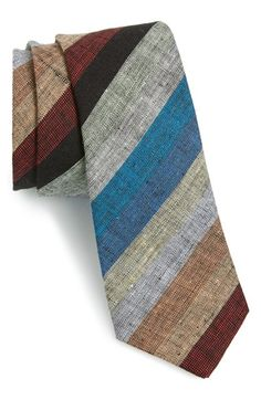 ALEXANDER OLCH Stripe Linen Tie available at #Nordstrom