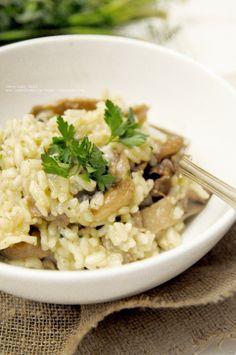Kulinarne podróże: Risotto z boczniakami.