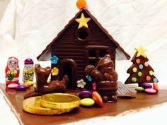 Christmas Chocolate House Christmas Gingerbread House, Gingerbread Houses, Christmas Treats, Chocolate House, Christmas Chocolate, Treat Yourself, Bakery, Xmas, Desserts