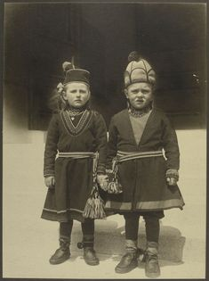 Lapland Children, possibly from Sweden - William Williams papers, Series 1. Ellis Island, 1902-1914. August Sherman photographs. (source)