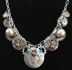 "There really is no such thing as ""junk"" when it comes to jewelry making. This Steampunk Oldjunk Necklace proves it!"