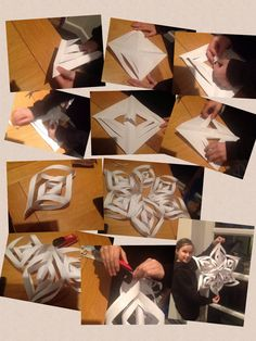 Making snowflake decorations part 2