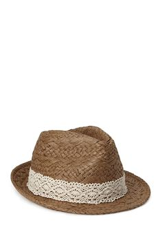 Beachy Straw Fedora | FOREVER21 #Accessories #Hat #Crochet