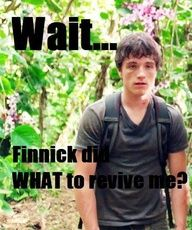 Finnick did WHAT to revive me? C'mon, snap out of it, Peeta! Hunger Games Memes, Hunger Games Pin, Hunger Games Fandom, Hunger Games Catching Fire, Hunger Games Trilogy, Tribute Von Panem, Jenifer Lawrence, Katniss And Peeta, Suzanne Collins