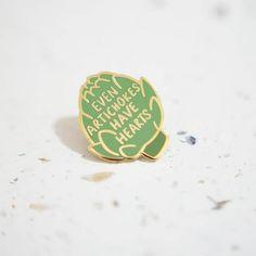 Artichoke Enamel Pin // Hard Enamel Enamel Pin Pin Lapel