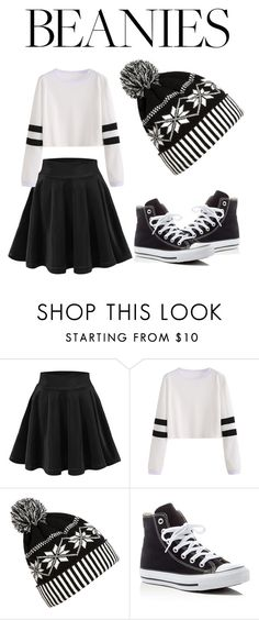 """""""Beans in the house"""" by kelsyejordan ❤ liked on Polyvore featuring WithChic and Converse"""