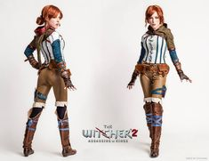TheWitcherCosplayTriss2 Triss Cosplay, Triss Merigold Cosplay, Witcher 2, Larp Armor, Steampunk Cosplay, Cool Costumes, Cosplay Costumes, Best Cosplay, Character Art