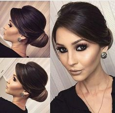 Glam updo and earrings Classy Hairstyles, Work Hairstyles, Bride Hairstyles, Pretty Hairstyles, Elegant Wedding Hairstyles, Bridesmaids Hairstyles, Bridal Hair Updo, Wedding Hair And Makeup, Hair Upstyles