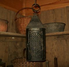 Old Punched Tin Lantern...
