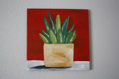 plant painting by daniellelandy on Etsy, $35.00
