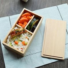 Japanese Wooden Lunch Box for Kids Handmade Lunch Boxes Eco-friendly Bento Boxes Wood Food