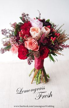 New Bridal Bouquet Red Roses Seeded Eucalyptus Ideas