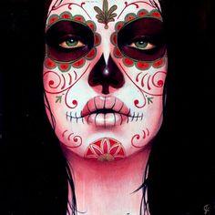 God I love Sylvia Ji. Especially the Day of the Dead inspired work. So creepy beautiful.