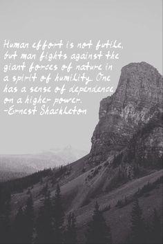 Ernest Shackleton quote