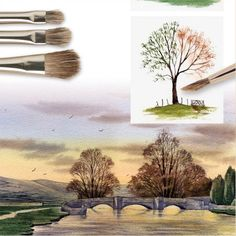 Tree & Texture Brush. Series 32 | Rosemary & Co Artist Brushes