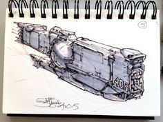 SpaceshipADay 005, Jeff Zugale on ArtStation at https://www.artstation.com/artwork/spaceshipaday-005