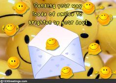 Loads and loads of smiles to brighten up your day! Free online Unlimited Smiles ecards on Send a Smile Day Smiley Emoji, Emoticon, Smiley Faces, Good Afternoon, Good Morning, Greetings For The Day, Image Stickers, Always Smile, Choose Joy