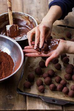Bergamot chocolate truffles