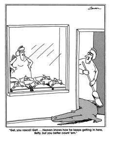 """""""The Far Side"""" by Gary Larson. Far Side Cartoons, Far Side Comics, Laugh Cartoon, Gary Larson Far Side, Gary Larson Cartoons, Funny As Hell, The Far Side, Funny Thoughts, Humor"""