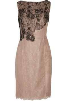 VALENTINO Silk-Lace Mini Dress. #valentino #cloth #dress