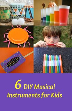 Make musical instruments using different materials. Have children play these and describe different sounds they hear. This relates to Investigate sounds made by different objects and materials and discuss explanations about what is causing Instrument Craft, Homemade Musical Instruments, Making Musical Instruments, Fun Activities To Do, Music Activities, Homemade Drum, Preschool Music, Music Crafts, Music And Movement