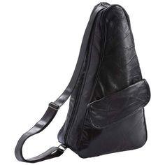 Embassy Italian Stone Design Genuine Leather Shoulder Backpack