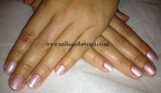 Shellac Strawberry Smoothie with CND Additives in Pink/Gold Sparkle  www.nailsandbeyond.co.uk
