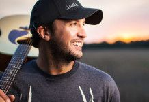 Artist: Luke Bryan.  Favorite Song: Huntin' Fishin' and Lovin' Every Day.  https://www.youtube.com/watch?v=6l3ukWqRU4s  There were several striking and dynamic photographic qualities that interest me.  To begin with, I loved how the image had a sharp and clear focus on Luke Bryan himself and a blurred background.  Second of all, the color of the sky in the background is full of beautiful colors that make for the perfect backdrop.