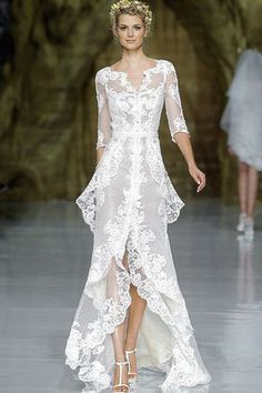 نصائح لارتداء فستان الزفاف القصير من الأمام والطويل من الخلف