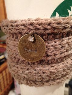 Coffee sweater with hand stamped tag on Etsy, $13.00 customize with whatever your heart desires!