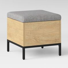 The Loring Storage Ottoman from Project 62™ is the perfect piece of furniture to kick up your feet while keeping daily essentials tucked away. The square ottoman features a soft, cushioned top that's removable, allowing you to stow away things like shoes you wear on a daily basis or an umbrella to reach for as needed. Clean lines and a simple shape tie in seamlessly with your modern decor for a streamlined look you'll love.<br><br>1962 was a big year. Modernist de...