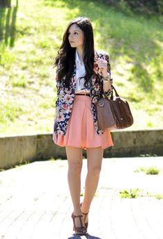 Trendy Outfit Ideas With Floral Blazer Look Fashion, Trendy Fashion, Fashion Outfits, Womens Fashion, Fashion Styles, Nail Fashion, Blazer Fashion, Fashion Ideas, Spring Summer Fashion