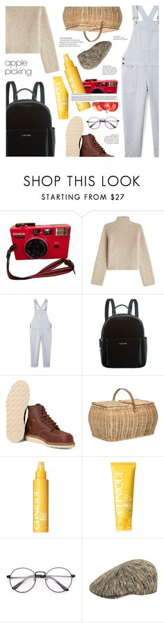 """""""pick apple, not people"""" by sugaplump ❤ liked on Polyvore featuring Rosetta Getty, Rebecca Minkoff, Calvin Klein, Red Wing, Bloomingville, Clinique, kangol and applepicking"""