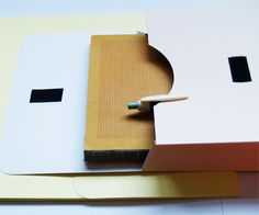 Hay envelope/ packaging, pencil and notebook le typographe. by Tas-ka