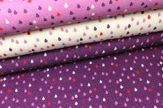 Weiteres - 2. Wahl - Viskose - Tropfen - Violett - Nancy Kers - ein Designerstück von alles-fuer-selbermacher bei DaWanda