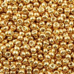 Miyuki Round Seed Bead 11/0 Galvanized Yellow Gold 15g 11-1052 #Miyuki #SeedBead