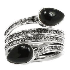 Black-Onyx-925-Sterling-Silver-Ring-Jewelry-s-7-SR173772