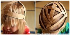 How to start a cardboard head piece by The Cardboard Collective