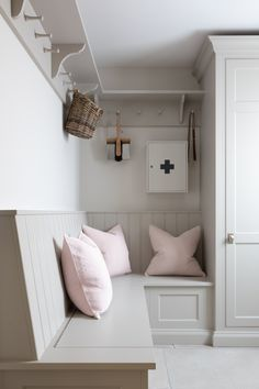 Boot Room Storage, Cupboard Storage, Drying Cupboard, Kitchen Seating, Kitchen Benches, Barn Kitchen, Laundry Room Design, Kitchen Design, Boot Room Utility