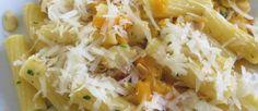 Rigatoni con zucca mandorle e pecorino ricetta e foto