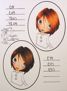 Hair Color - Copic Markers 47, 48