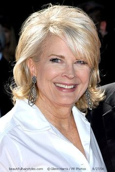 Candice Bergen in Stylish Hair Design for Medium-Length Blondes - Beautiful Hairstyles