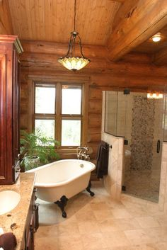 Bathroom Log Home Design, Pictures, Remodel, Decor and Ideas - page 8
