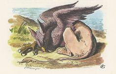 gryphon   Gryphon Sleeps On Beach Mock Turtle Story, Alice In Wonderland,Lewis ...