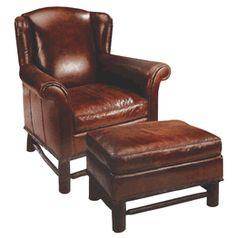 nice chair and ottoman