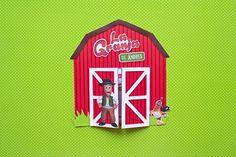 La granja de Zenón 🤠 - Invitacion infantil | Party Pop Farm Birthday, Birthday Parties, Dulces Halloween, Diy, Party, Farm Theme, Farm Party, Paper Garlands, Unicorn Balloon