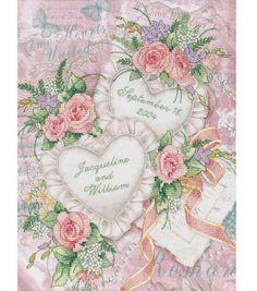 Dimensions Wedding Record Stamped X-Stitch Kit at Joann.com