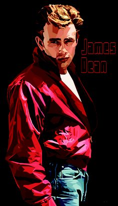 James Dean, by Somesee (Sasi Yulianto). Great color and vector work!