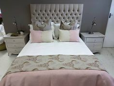 Buckaroo pink on flax linen paired with cushions in Atlantic. www.whatnot.co.za Mattress, Bedrooms, Bedroom Decor, Cushions, Pink, Furniture, Home Decor, Products, Throw Pillows