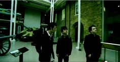 Green Day visiting a museum in England.